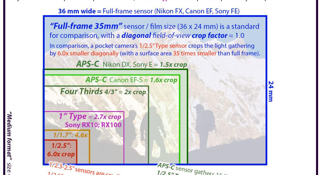 Sensor size comparisons for digital cameras - PhotoSeek.com