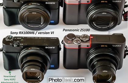 Review of Sony RX100M6 / RX100 VI camera versus Panasonic ZS100.